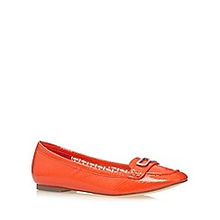 Principles by Ben de Lisi - Designer orange mock croc patent pumps