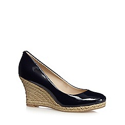 Principles by Ben de Lisi - Designer navy patent straw high court shoes