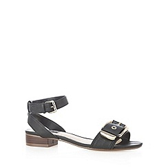 Principles by Ben de Lisi - Designer black large buckle strap sandals