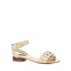 Principles by Ben de Lisi - Designer dark cream large buckle strap sandals