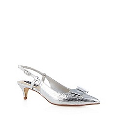 Principles by Ben de Lisi - Designer silver bow trim mid court shoes