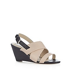 RJR.John Rocha - Designer pale pink leather slingback mid wedges