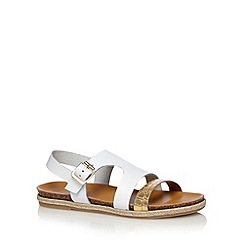 RJR.John Rocha - Designer off white leather two tone strap slingback sandals