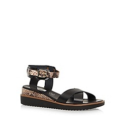 RJR.John Rocha - Designer black leather snakeskin mid sandals