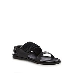 RJR.John Rocha - Designer black lace up sandals