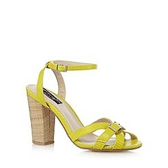 Principles by Ben de Lisi - Designer lime snakeskin high sandals