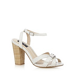 Principles by Ben de Lisi - Designer white snakeskin high sandals