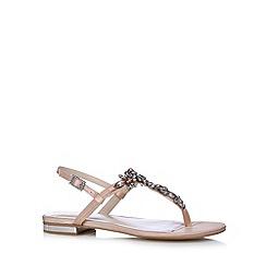 No. 1 Jenny Packham - Designer peach flower stone flip flops
