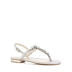 No. 1 Jenny Packham - Designer silver embellished sandals