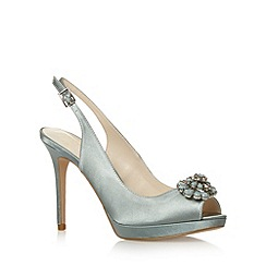 No. 1 Jenny Packham - Designer light turquoise jewel flower high court shoes