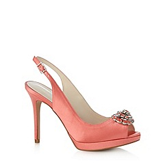 No. 1 Jenny Packham - Designer coral jewel flower high court shoes