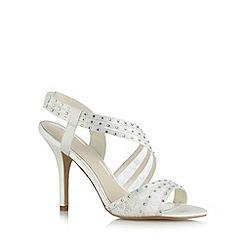No. 1 Jenny Packham - Designer ivory rhinestone lace sandals
