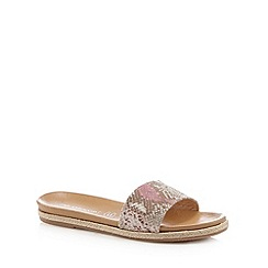 RJR.John Rocha - Designer pink snakeskin flip flops