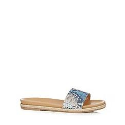 RJR.John Rocha - Designer blue snakeskin flip flops