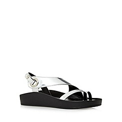 Principles by Ben de Lisi - Designer metallic silver asymmetric sandals