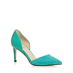 J by Jasper Conran - Designer bright green mixed leather high court shoes