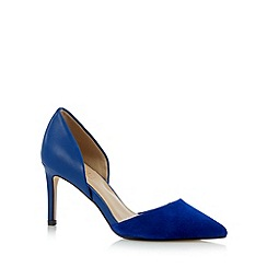J by Jasper Conran - Designer bright blue mixed leather high court shoes