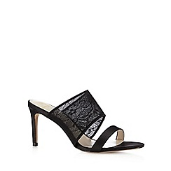 No. 1 Jenny Packham - Designer black lace strap high mule sandals