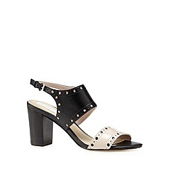 RJR.John Rocha - Designer black leather punched high sandals