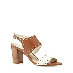 RJR.John Rocha - Designer tan leather punched high sandals