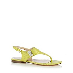 J by Jasper Conran - Designer lime mock croc sandals