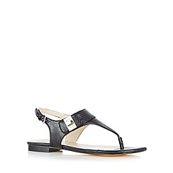 J by Jasper Conran - Designer black mock croc sandals