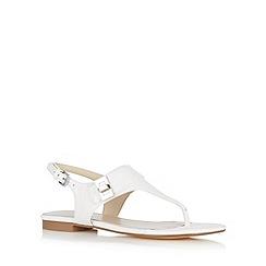 J by Jasper Conran - Designer white mock croc sandals