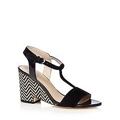 J by Jasper Conran - Designer black zig zag high wedge sandals