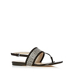 J by Jasper Conran - Designer black chevron weave sandals