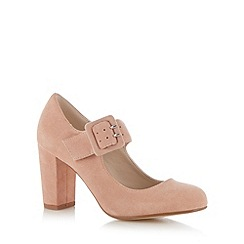 RJR.John Rocha - Designer light pink suede high court shoe