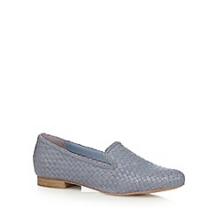 RJR.John Rocha - Designer light blue leather weave slip ons
