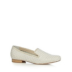 RJR.John Rocha - Designer off white leather weave slip ons