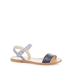RJR.John Rocha - Designer navy woven leather sandals
