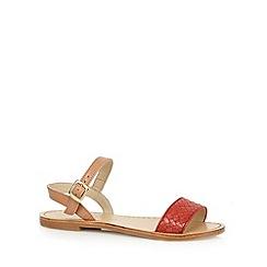 RJR.John Rocha - Designer coral woven leather sandals