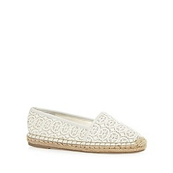 RJR.John Rocha - Designer off white crochet slip on shoes