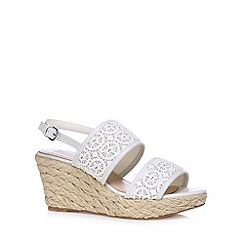 RJR.John Rocha - Designer off white crochet mid wedge sandals