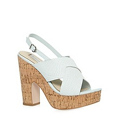 RJR.John Rocha - Designer pale blue leather weave sandals