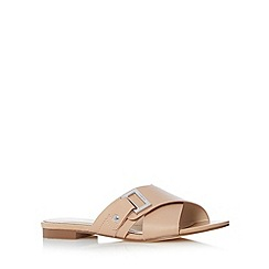 J by Jasper Conran - Designer light pink leather cross strap sandals