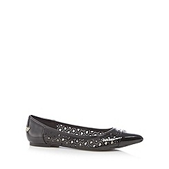 Floozie by Frost French - Black cutout hearts patent pumps