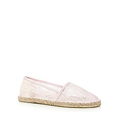 Floozie by Frost French - Light pink lace espadrilles