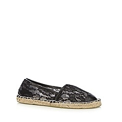 Floozie by Frost French - Black lace espadrilles