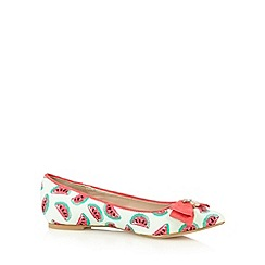 Floozie by Frost French - Green textured watermelon pumps