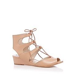 RJR.John Rocha - Designer natural leather fringe strap sandals