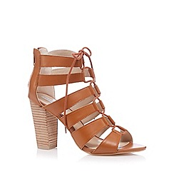 RJR.John Rocha - Designer tan high lace up sandals