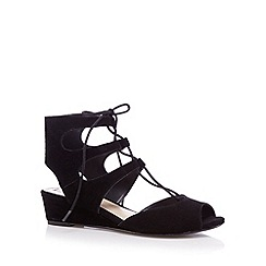 RJR.John Rocha - Designer black lace up sandals