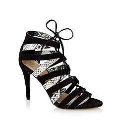 J by Jasper Conran - Designer black high heeled lace up sandals