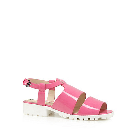 H! by Henry Holland - Designer pink strap patent sandals