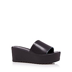 H! by Henry Holland - Designer black mid platform sandals