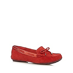 J by Jasper Conran - Designer red suede mix slip on shoes
