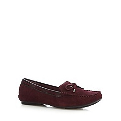 J by Jasper Conran - Designer purple suede mix slip on shoes